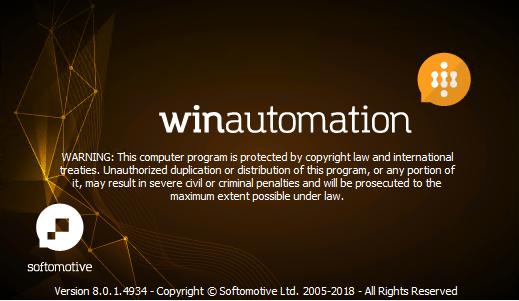 WinAutomation Professional Plus 8.0.1.4934