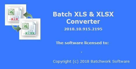 Batch XLS and XLSX Converter 2018.10.915.2195