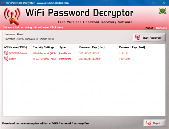 WiFi Password Decryptor 8.5