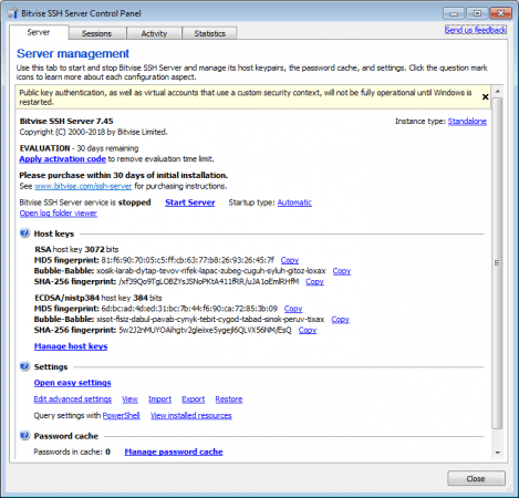 Download Bitvise WinSSHD v7 45 - SoftArchive