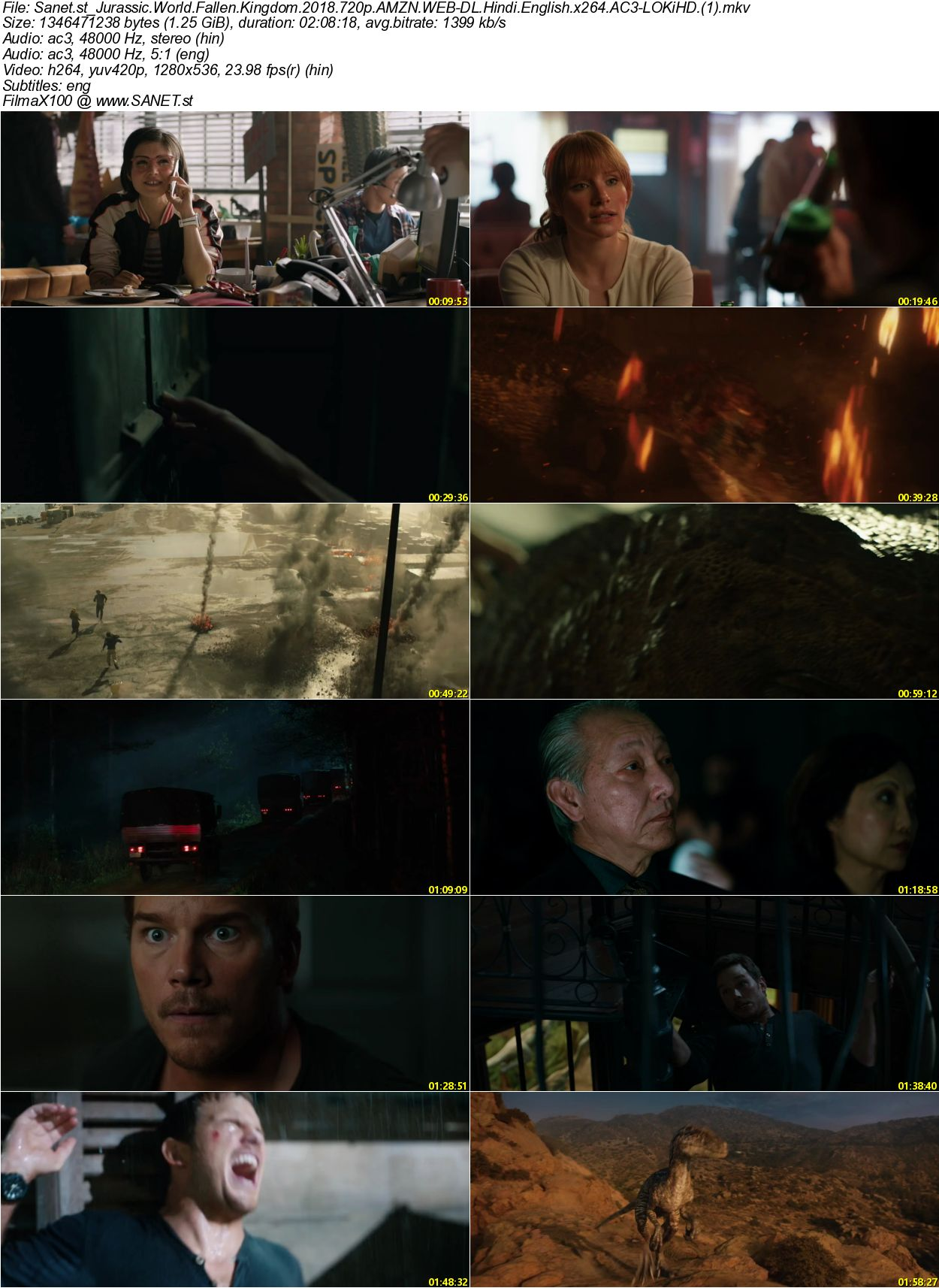 Download Jurassic World Fallen Kingdom 2018 720p AMZN WEB-DL Hindi