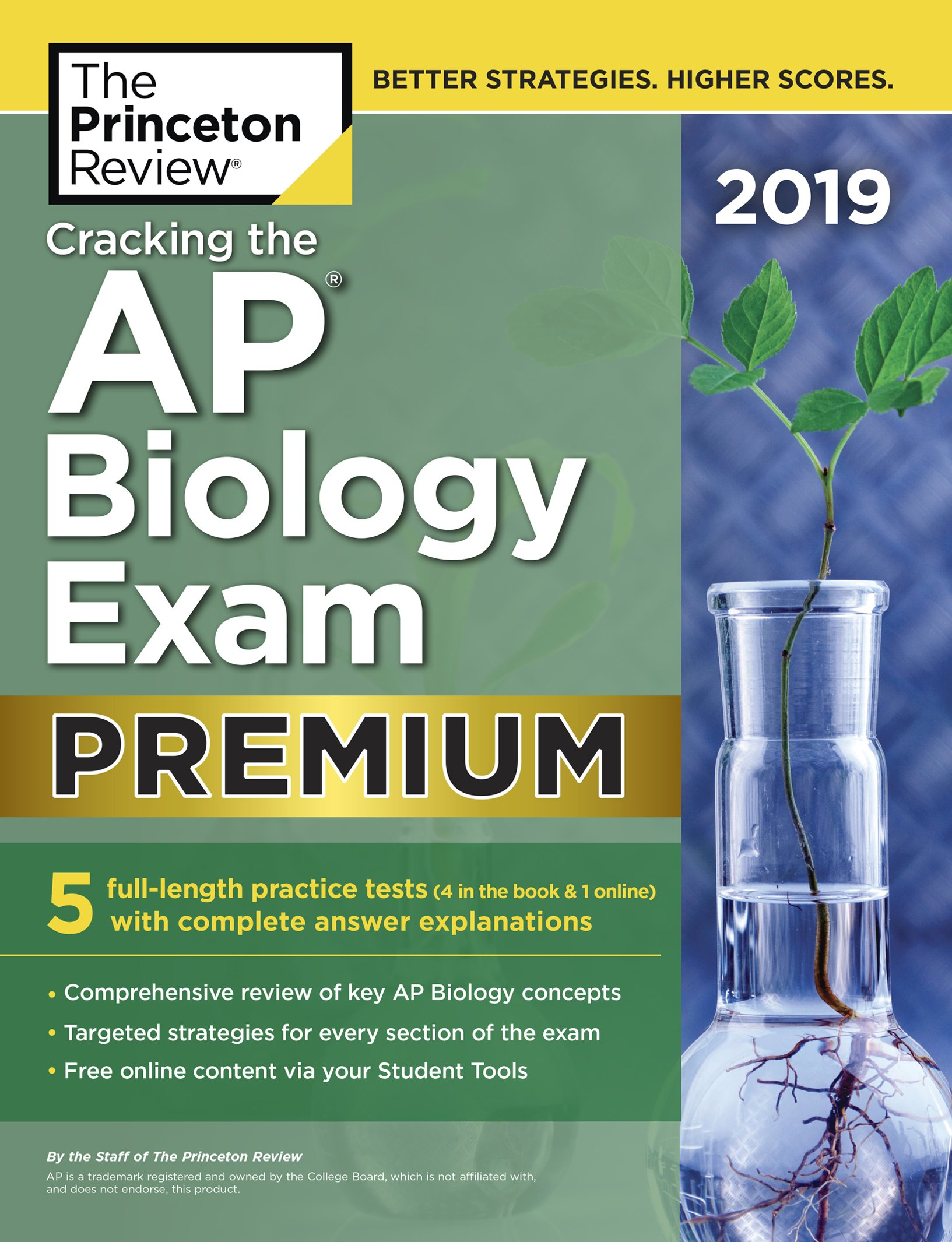 Cracking the AP Biology Exam 2019, Premium Edition: 5 Practice Tests +  Complete Content