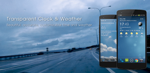 Transparent clock weather (Ad-free) v1.96.01 build 502