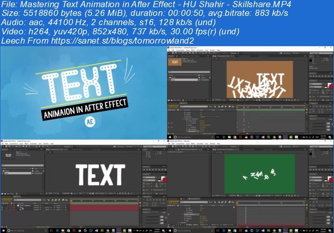 Mastering Text Animation in After Effect