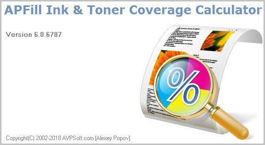 APFill Ink and Toner Coverage Calculator 6.0.6787 Multilingual
