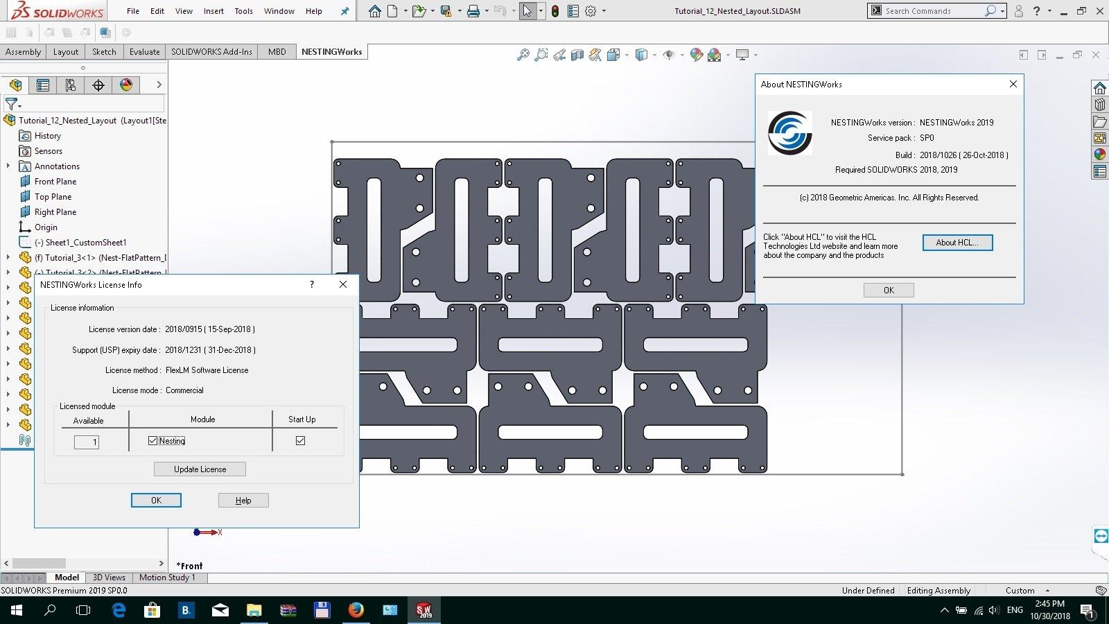 Download Geometric NestingWorks 2019 SP0 0 for SolidWorks