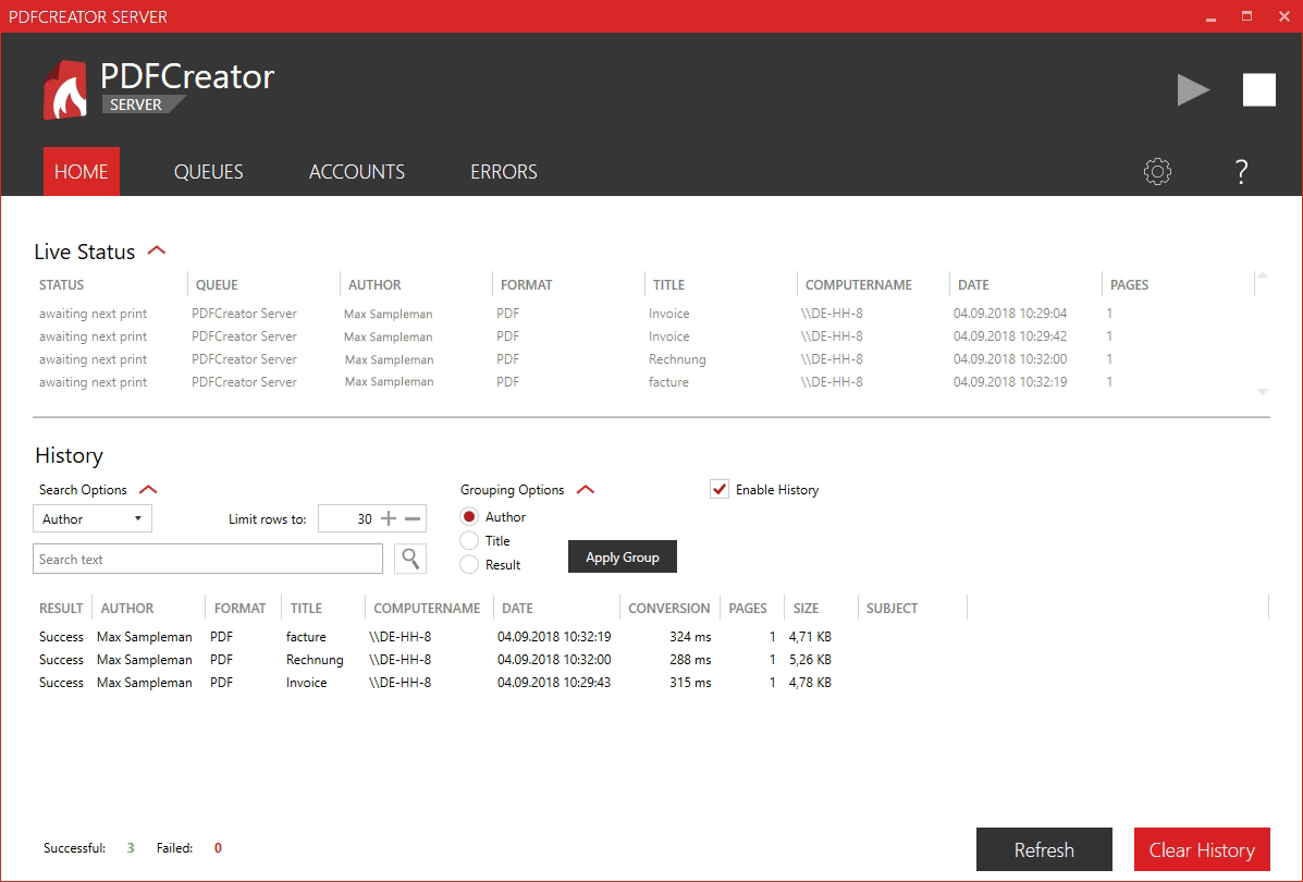 free pdf creator for terminal server