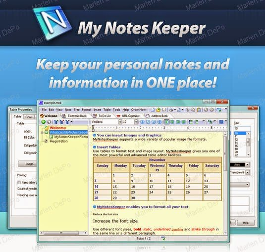 my notes keeper portable