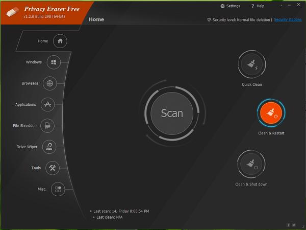 Privacy Eraser Free 4.43 Build 2692