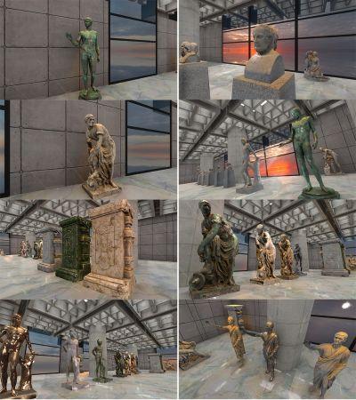 Greek   Roman Sculptures for Unity 3D