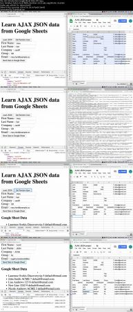 Google Sheet Data API JSON AJAX