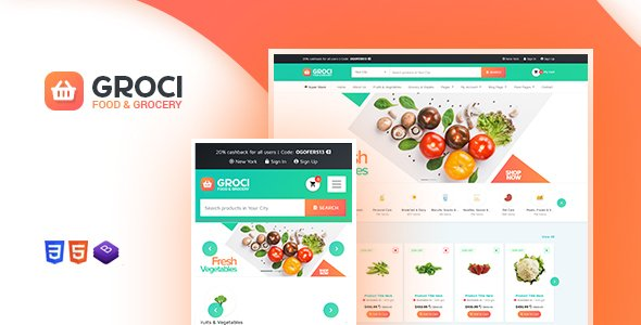 ThemeForest - Groci v1.3 - Organic Food and Grocery Market WordPress Theme  ...