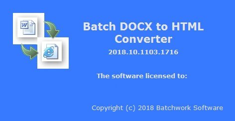 Batch DOCX to HTML Converter 2019.11.215.1736