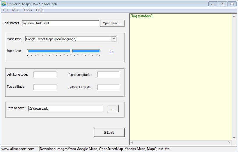 Download AllMapSoft Universal Maps Downloader 9 913