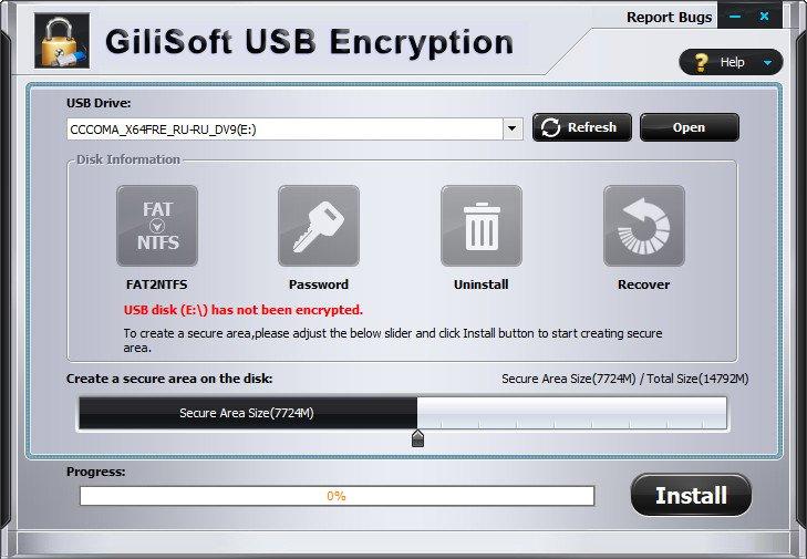 gilisoft usb stick encryption 6.2.0