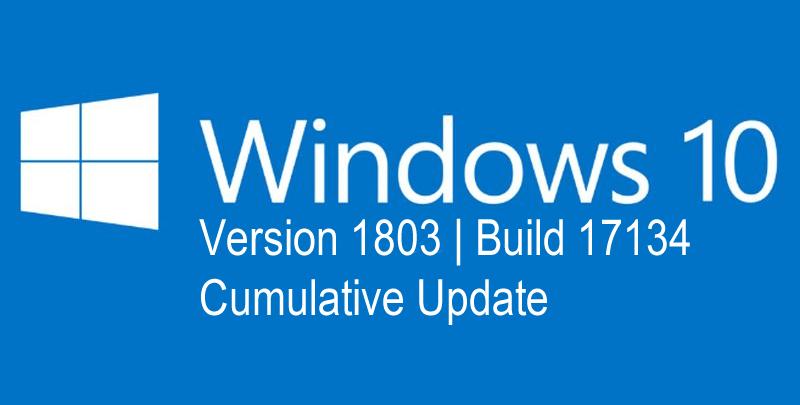 Download Cumulative Update for Windows 10 Version 1803: OS