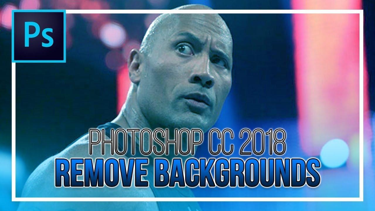 photoshop cc 2018 remove background