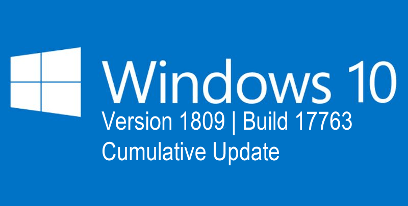 version 1809 (os build 17763)