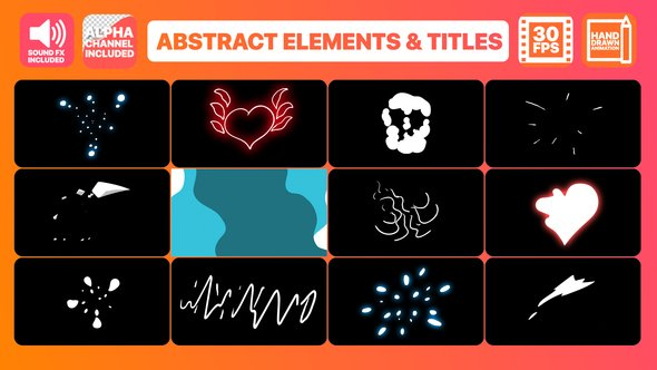 Download Videohive Flash FX Abstract Elements And Title 22972026