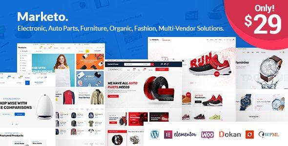 ThemeForest - Marketo v1.3.4 - eCommerce & Multivendor Marketplace Woocommerce WordPress Theme