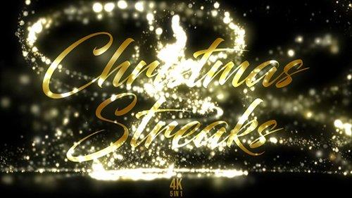 Gold Christmas Streaks - 22997094