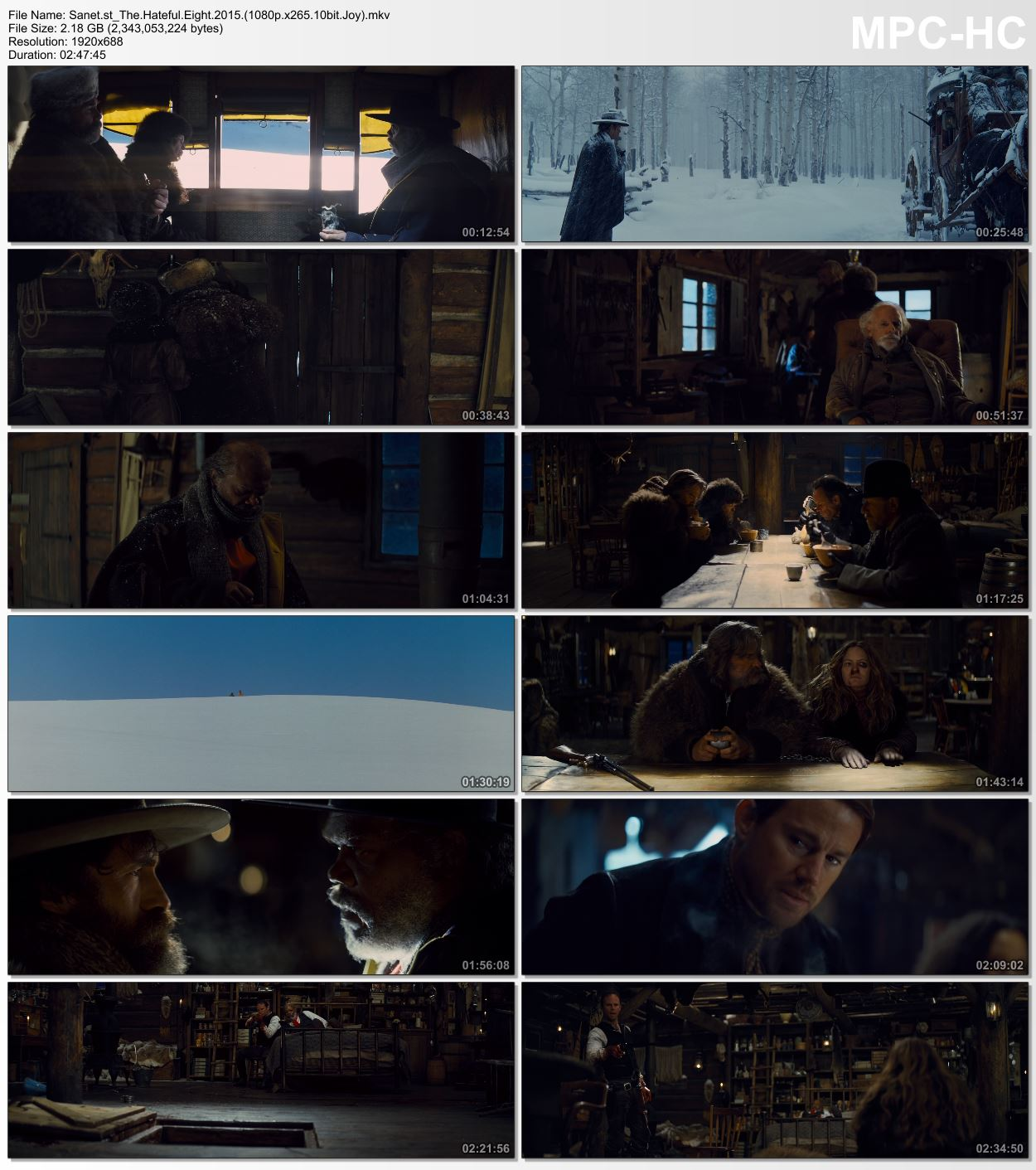 Download The Hateful Eight 2015 1080p Bluray X265 HEVC 10bit AAC 5 1