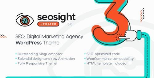ThemeForest - Seosight v3.3 - SEO, Digital Marketing Agency WP Theme with Shop - 19245326