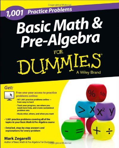 Download Basic Math and Pre-Algebra: 1,001 Practice Problems