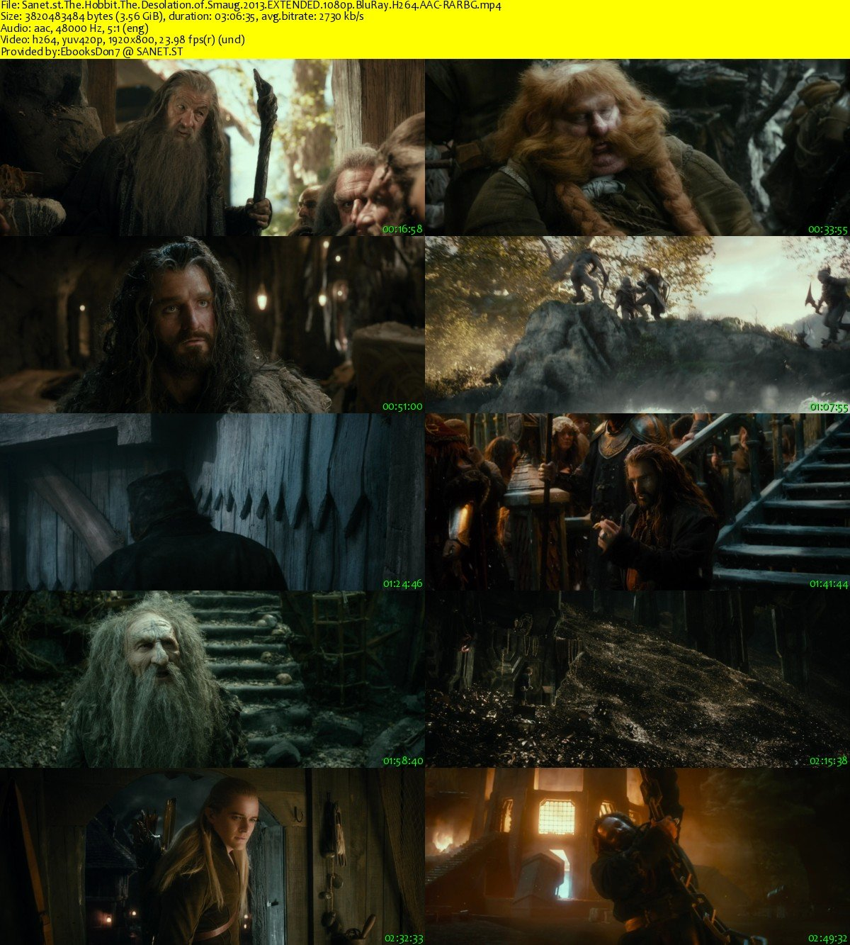 the hobbit desolation of smaug 1080p download