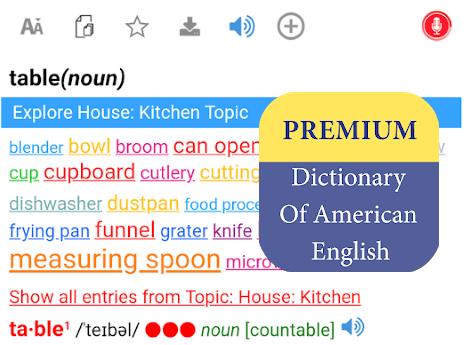Premium Dictionary Of American English v1.0.2 (2019)