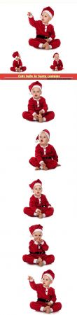 Cute baby in Santa costume
