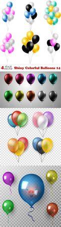 Vectors - Shiny Colorful Balloons - 14