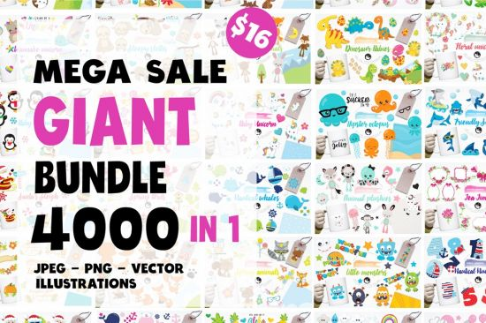 Black Friday – Graphic Giant Bundle – 4000 In 1