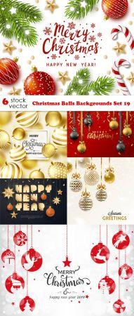 Vectors - Christmas Balls Backgrounds Set 19