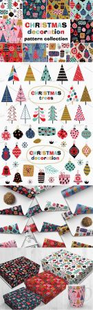 Christmas decorations pattern set - 3078357