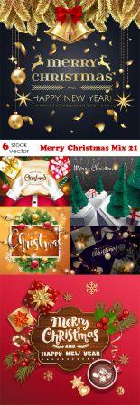 Vectors - Merry Christmas Mix - 21
