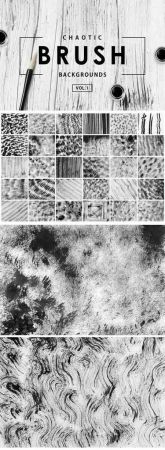 Chaotic Brush Backgrounds Vol 1