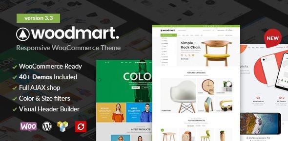 ThemeForest - WoodMart v3.3.0 - Responsive WooCommerce WordPress Theme