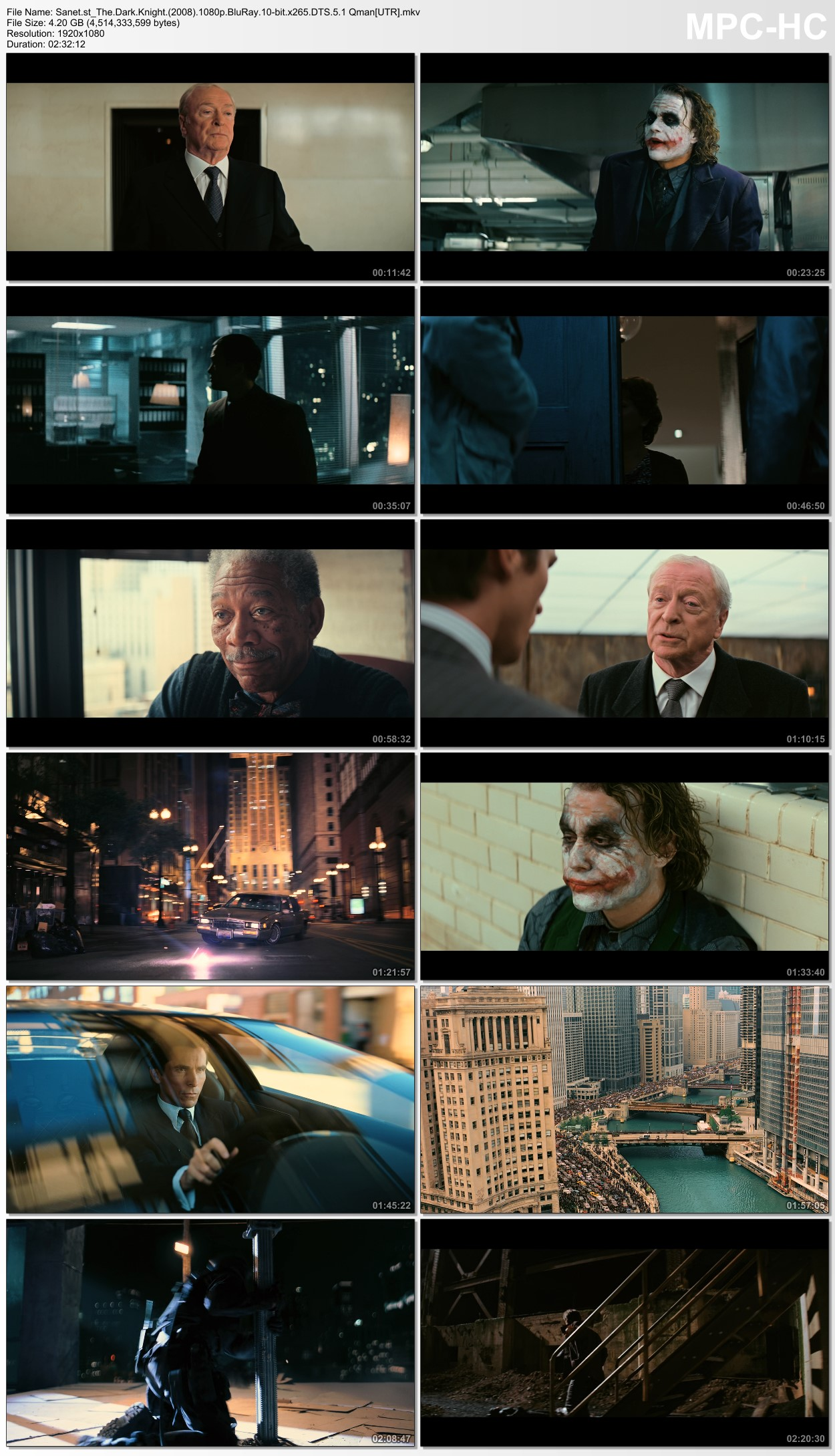 Download The Dark Knight 2008 1080p BluRay 10bit x265 HEVC DTS 5 1