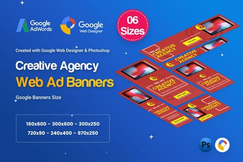 Creative, Startup Agency Banners HTML5 D40 - 99ZW9P.