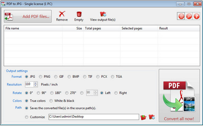 برنامج لتحويل ملفات الصور TriSun