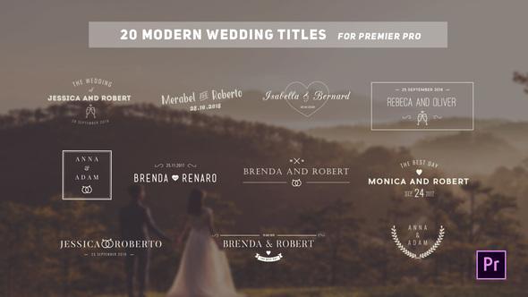 Videohive Wedding Titles - 22807684