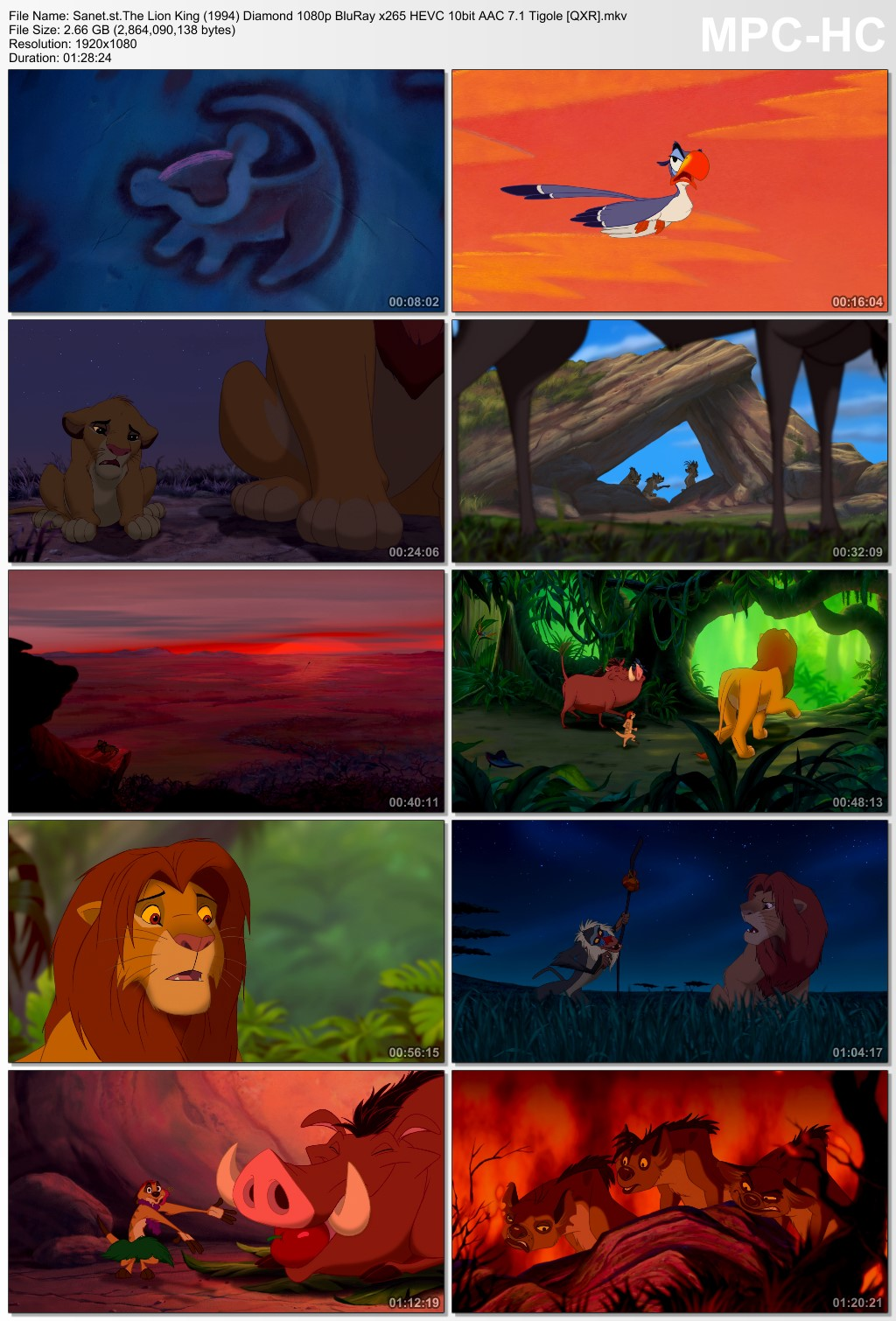 Download The Lion King 1994 Diamond 1080p BluRay x265 HEVC 10bit AAC