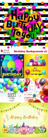 Vectors - Birthday Backgrounds - 47