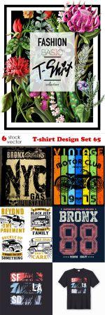 Vectors - T-shirt Design Set 65.