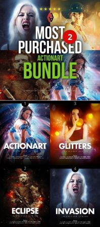 Most Purchased Actionart Bundle 2 - 23068583 - Photoshop Actions.