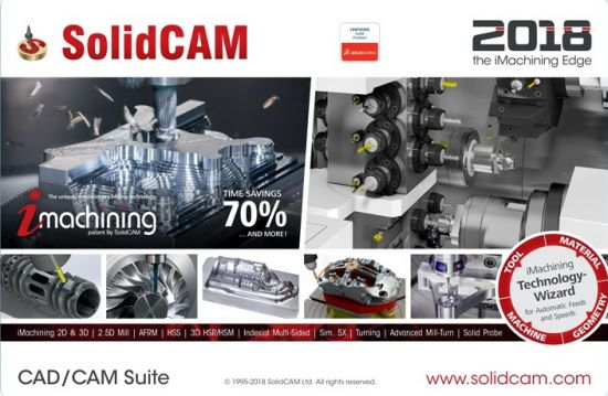 SolidCAM 2018 SP2 HF7 for SolidWorks 2012-2019 (x64) (2019)