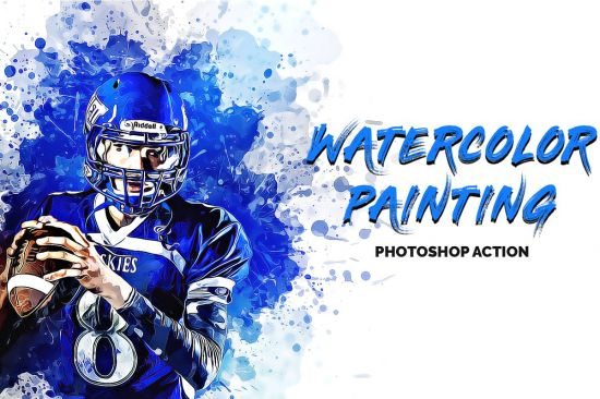 CreativeMarket - Watercolor Painting Photoshop Action 3365167.