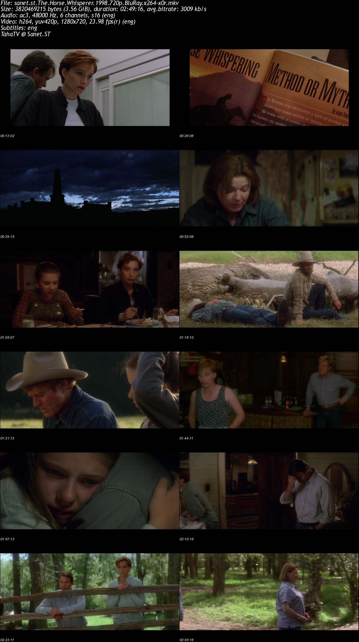 Download The Horse Whisperer 1998 720p Bluray X264 X0r Softarchive