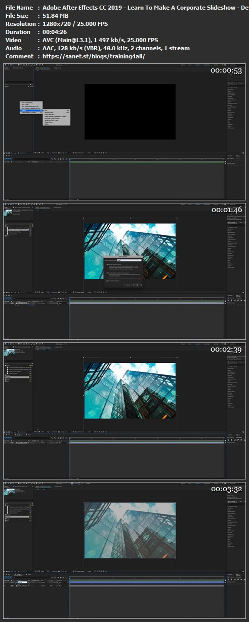 Download Adobe After Effects CC 2019 - Learn To Make A Corporate